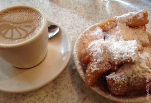 Beignet's and coffee at Cafe du Monde